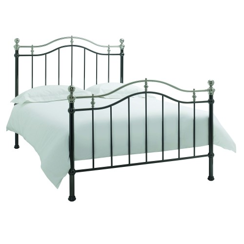 Casa Chloe Kingsize Bedframe, Black Nickel