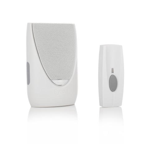 Byron BY202F 100m Wireless Doorbell with Plug In Flashing Chime