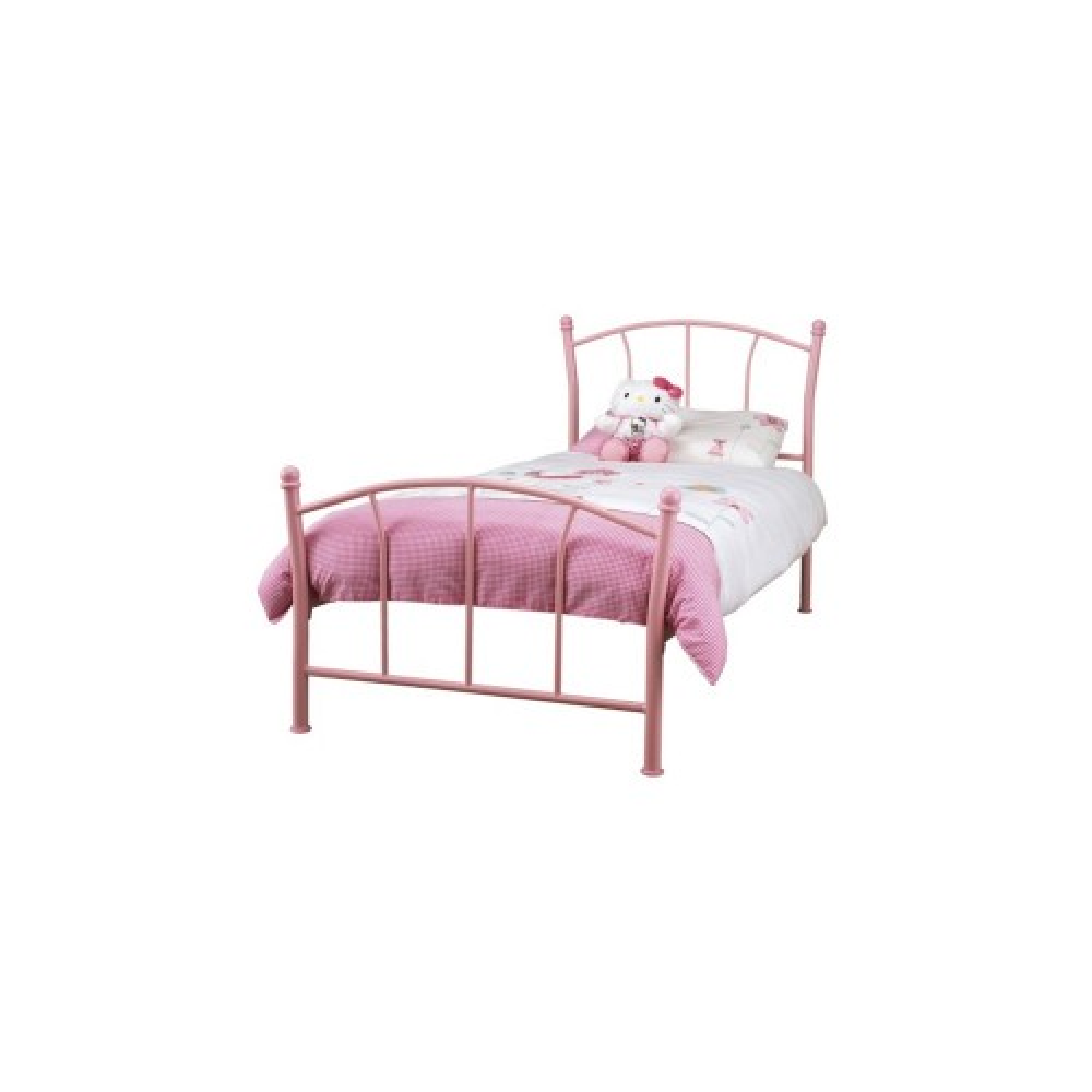 Casa Penny Single Bed Frame, Pink