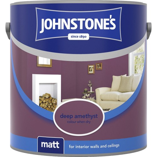 Johnstones 2.5l Matt Emulsion, Deep Amethyst