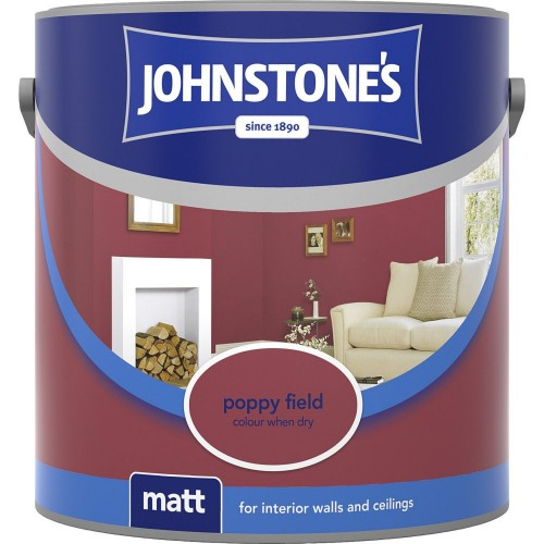 Johnstones 2.5l Matt Emulsion, Poppy Field