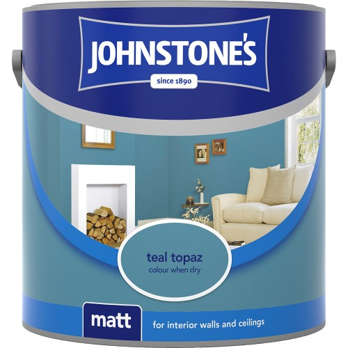 Johnstone 2.5l Matt Emulsion, Teal Topaz