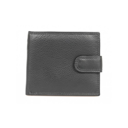 Golunksi Leathers Mens Leather Wallet Black Tab