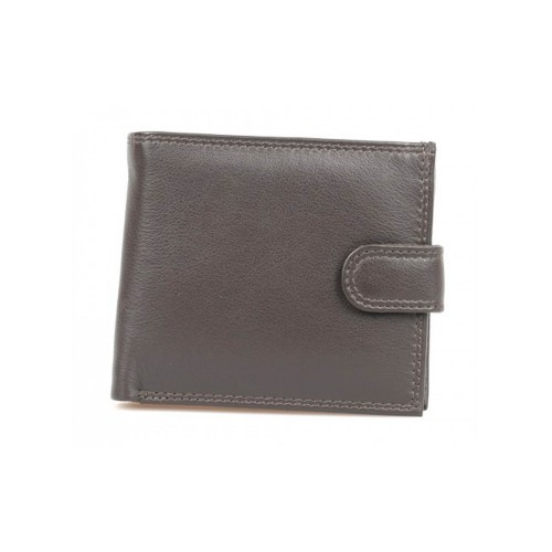 Golunksi Leathers Mens Leather Wallet Brown Tab