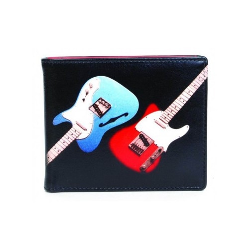 Golunksi Leathers Mens Leather Wallet Guitar