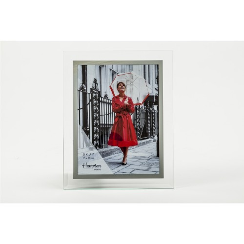 Hampton Mirror And Glass Photo Frame 6x8""