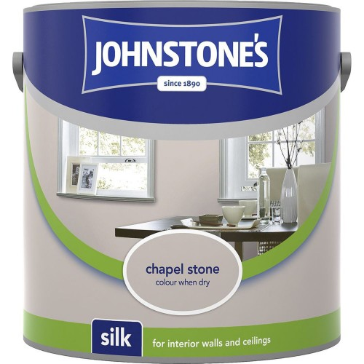 Johnstones 2.5l Silk Emulsion, Chapel Stone