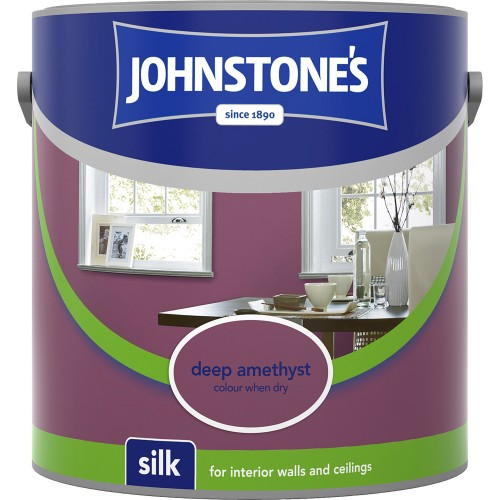 Johnstones 2.5l Silk Emulsion, Deep Amethyst