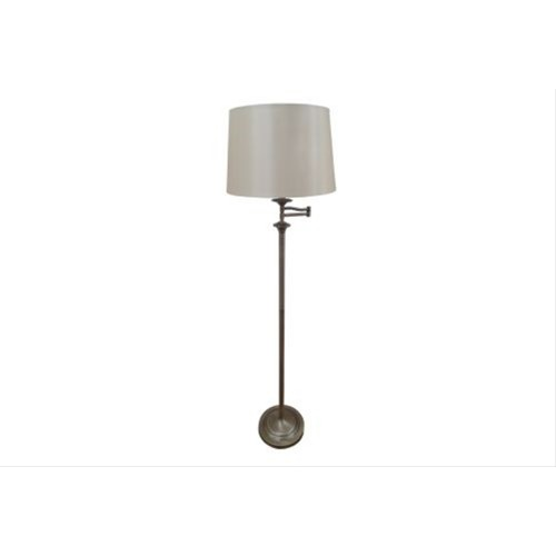 Mellion Swing Arm Floor Lamp Antique Brass
