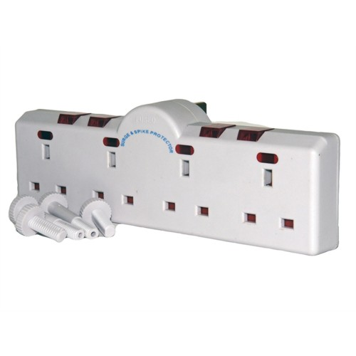Smj 4 Way Converter 240 Volt Individually Switched with Neon Indicators