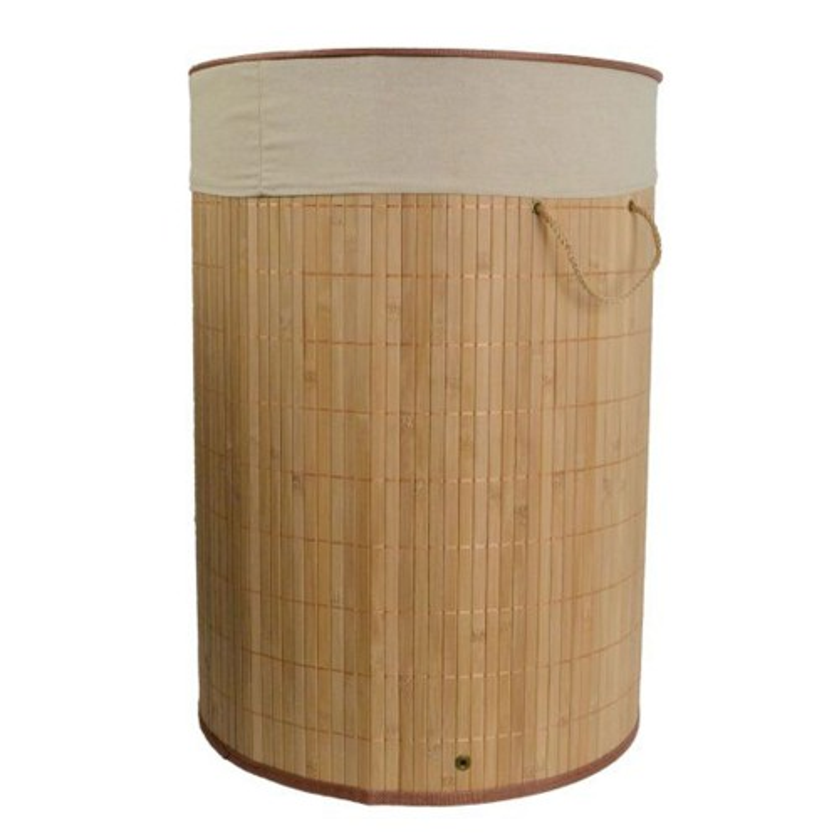 Casa Round Natural Bamboo Laundry Bin
