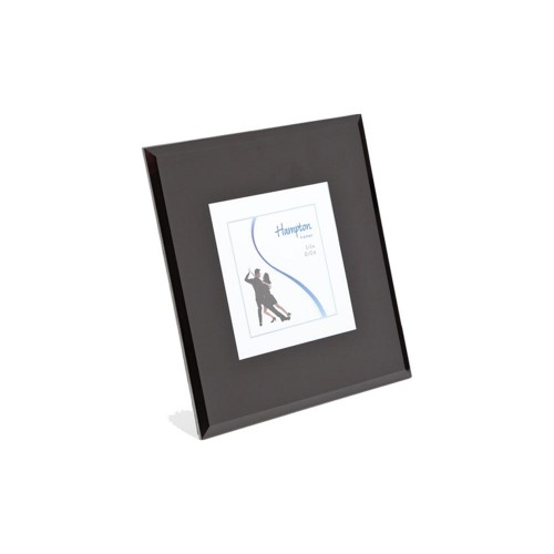 Noir Bevel Glass Frame 6x8, Black