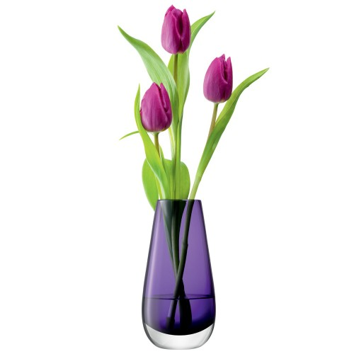 LSA Flower Bud Vase Violet, H14cm