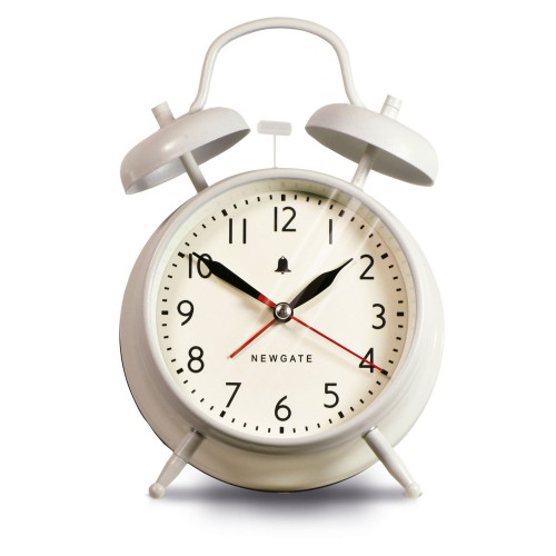 Newgate Covent Garden Alarm Clock, White OUT OF STOCK