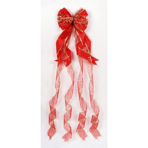 1.2m Red Tree Top Bow