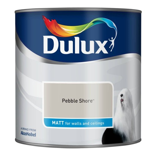 Dulux 2.5l Matt Standard Emulsion Paint, Pebble Shore