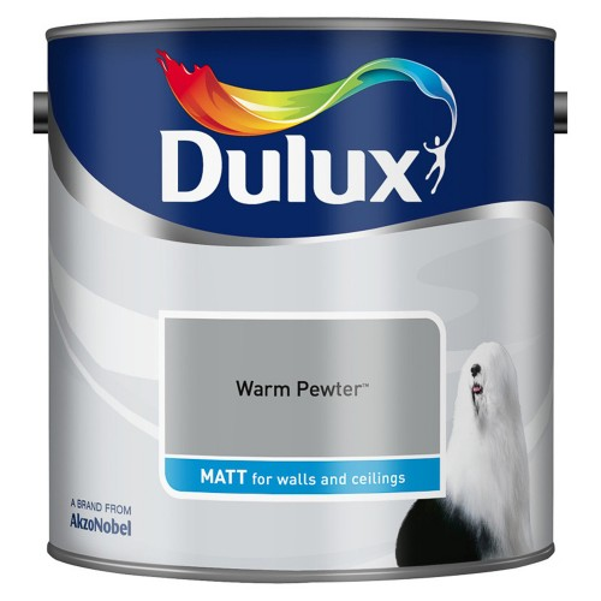 Dulux 2.5l Matt Standard Emulsion Paint, Warm Pewter