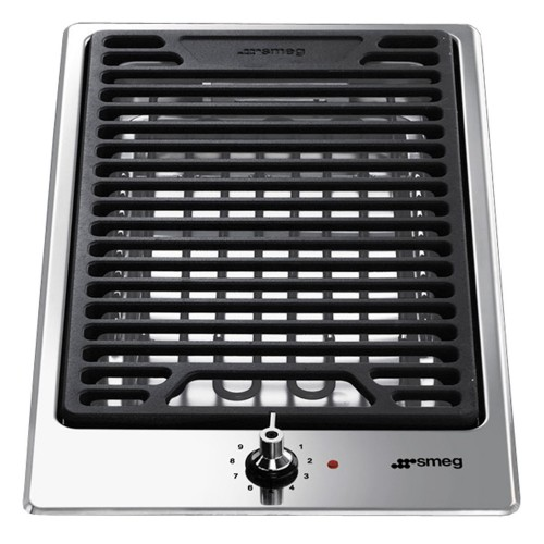 Smeg PGF30B Lava Stone Grill, Stainless Steel