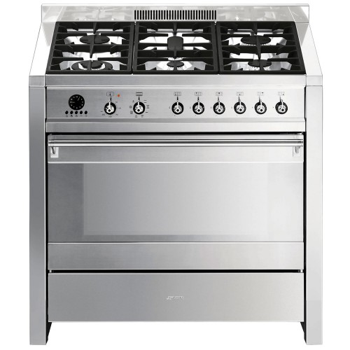 Smeg A1-7 Cooker 90cm, Stainless Steel