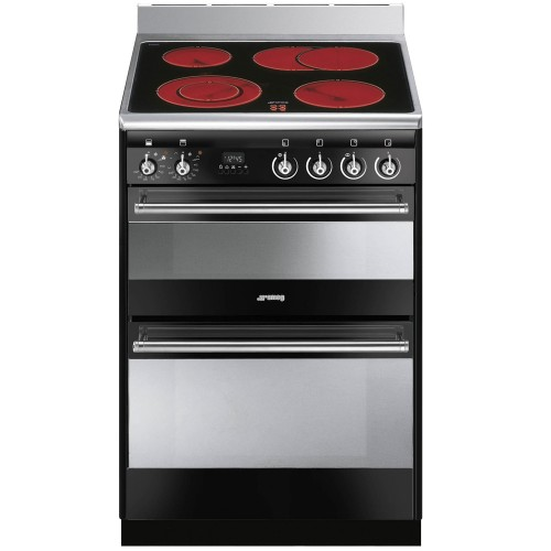 Smeg SUK62CBL8 Cooker 60cm, Black