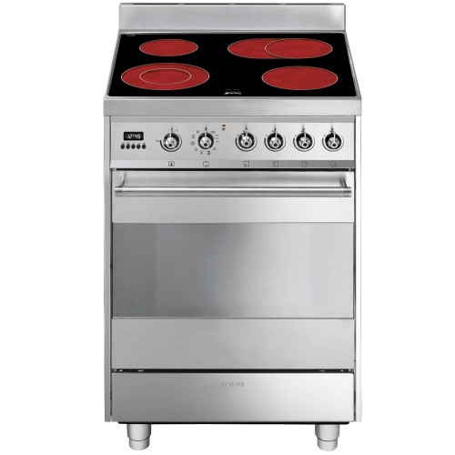 Smeg SY6CPX8 Cooker 60cm, Stainless Steel
