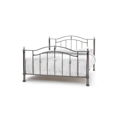 Casa Ashley Small Double Bed Frame, Black