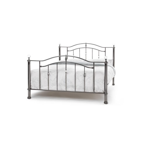 Casa Ashley Double Bed Frame Double, Black