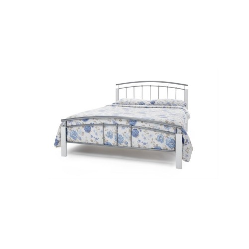 Casa Tetras White Small Double Bed Frame