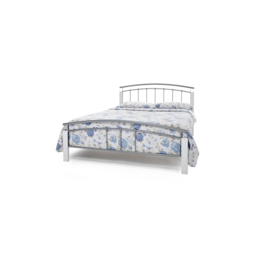 Casa Tetras White Double Bed Frame