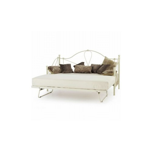 Casa Lyon Small Single Day Bed With Guest Bed, White