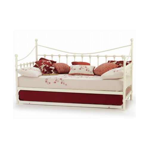 Casa Marseilles Single Day Bed With Guest Bed, Gloss Ivory