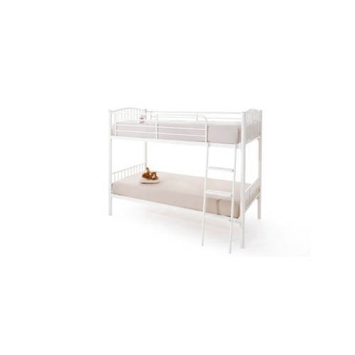 Casa Oslo Twin Sleeper Bunk Bed, Gloss White
