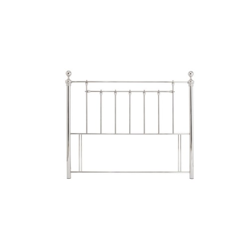 Casa Benjamin Small Double Headboard, Nickel