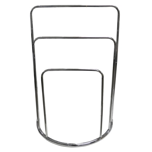 Casa 3 Rail Curved Towel Stand, Chrome