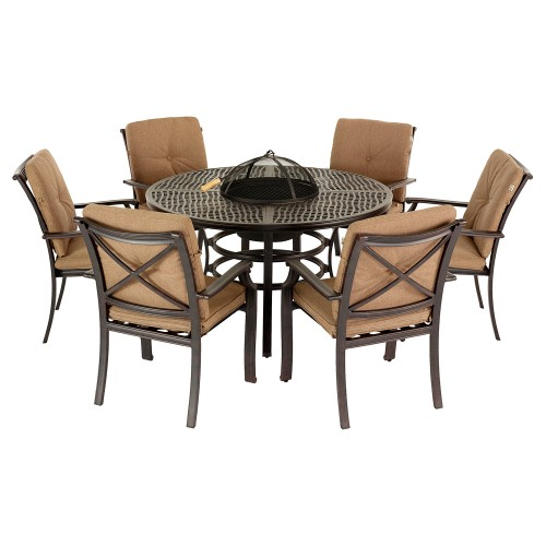 Jamie Oliver Grilling 6 Seater Garden Furniture Set Traditional Style