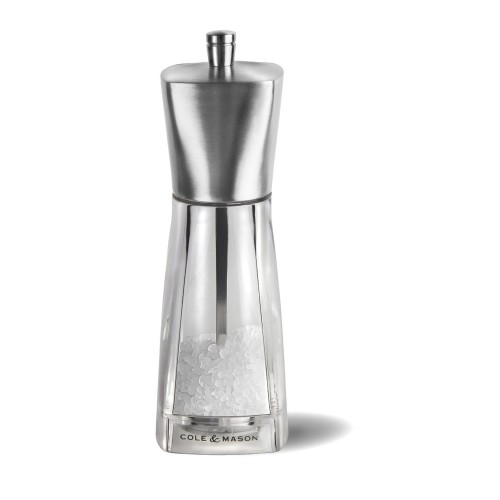 Cole & Mason York Precison Salt Mill 16cm, Stainless Steel