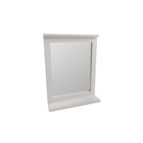 Lloyd Pascal Framed Mirror With Shelf, White
