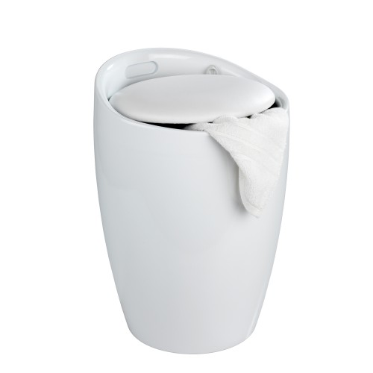 Wenko Candy Bath Stool, White