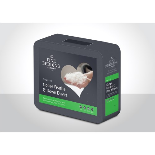 Fine Bedding Company Goose Feather And Down Duvet 4.5 Tog Single