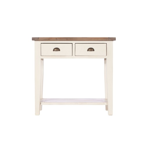 Casa Cotswold 2 Drawer Hall Table, White