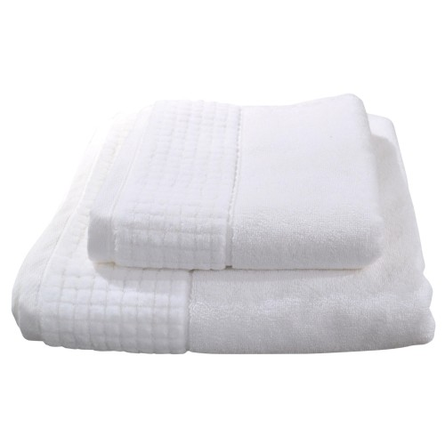 Casa Snowflake Hotel Bath Sheet, White
