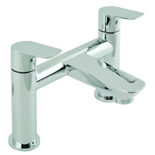 Casa Panama 2 Hole Bath Filler Deck Mounted, Chrome