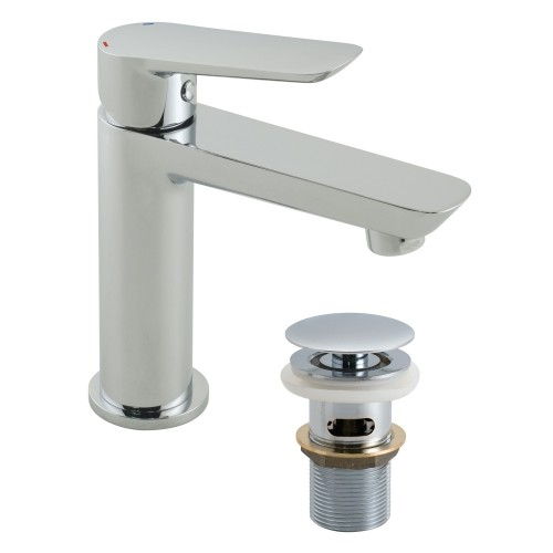 Casa Panama Mini Mono Basin Mixer With Clic Clac Waste, Chrome