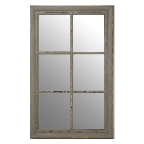 Casa Rust Effect Framed Window Mirror