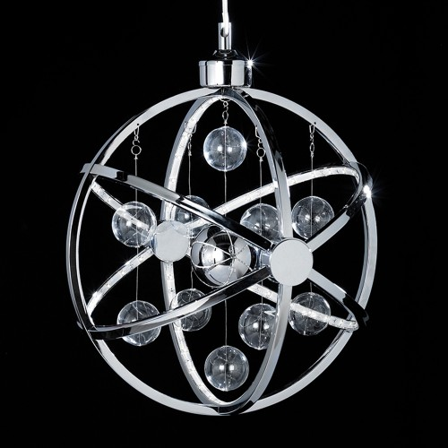 Endon Muni Led Ceiling Pendant, Chrome