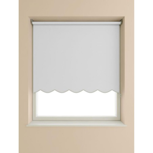 Scalloped Edge Roller Blind 120x160cm, White