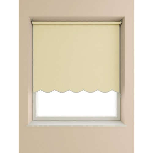 Scalloped Edge Roller Blind 60x160cm, Cream