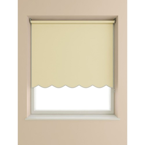 Scalloped Edge Roller Blind 90x160cm, Cream