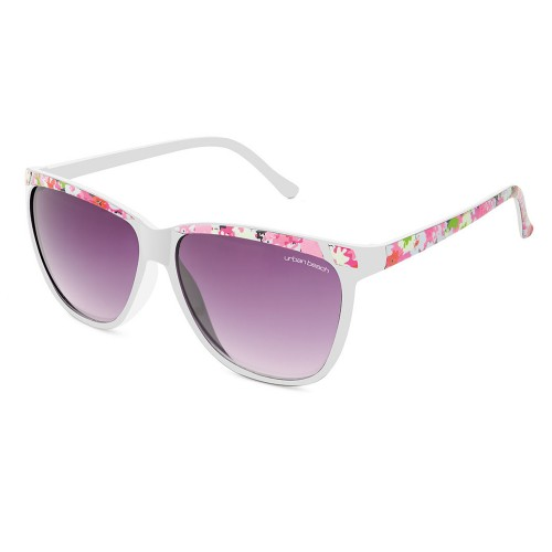 Urban Beach Florish Retro Sunglasses, White