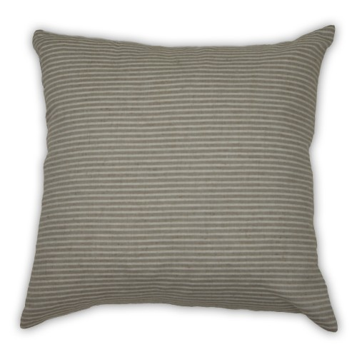 Malini Linen Stripes Cushion, Taupe